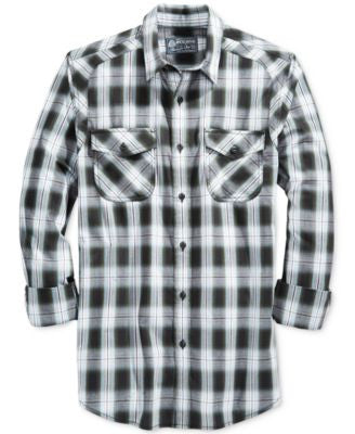 American Rag Men's Jermaine Plaid Long-Sleeve Shirt, Only at Vogily