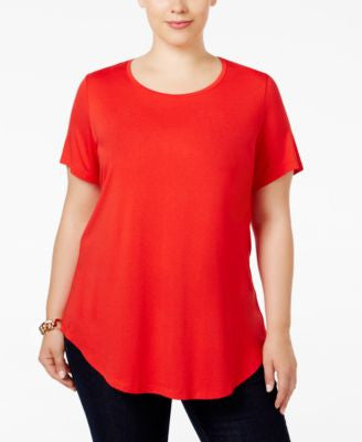 JM Collection Plus Size Scoop-Neck Top, Only at Vogily
