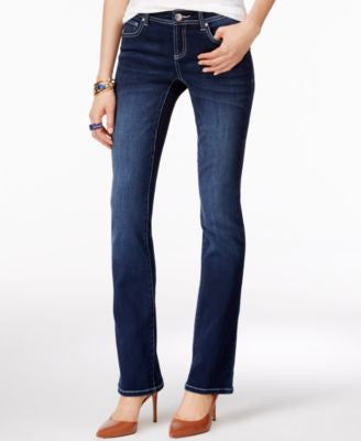 INC International Concepts Petite Curvy Spirit Wash Bootcut Jeans, Only at Vogily
