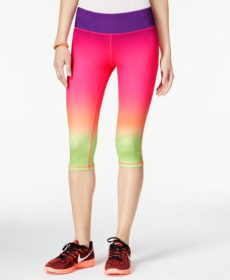 Material Girl Active Juniors' Ombre Cropped Leggings, Only at Vogily