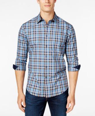 Tasso Elba Men's Check Long-Sleeve Shirt, Classic Fit