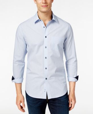 Tasso Elba Men's Pattern Long-Sleeve Shirt