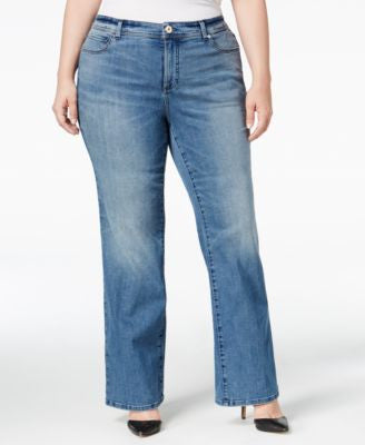 INC International Concepts Plus Size Monday Wash Bootcut Jeans, Only at Vogily