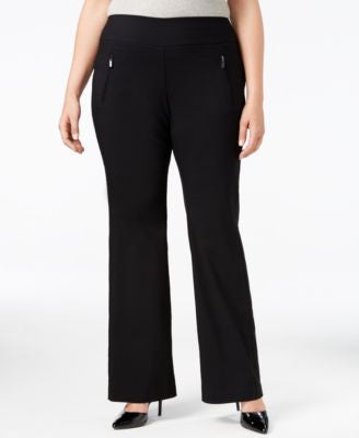 INC International Concepts Plus Size Ponte Wide-Leg Pants, Only at Vogily