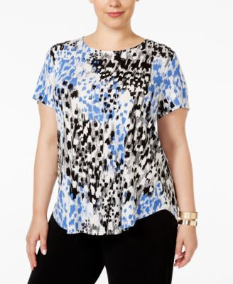 Alfani Plus Size Printed T-Shirt, Only at Vogily