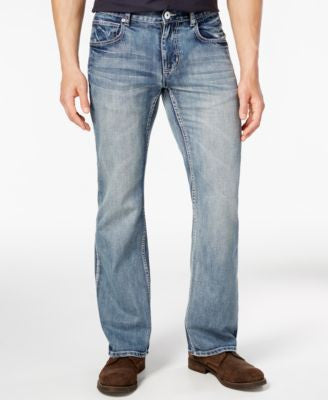 INC International Concepts Men's Boot-Cut Medium Wash Jeans, Only at Vogily