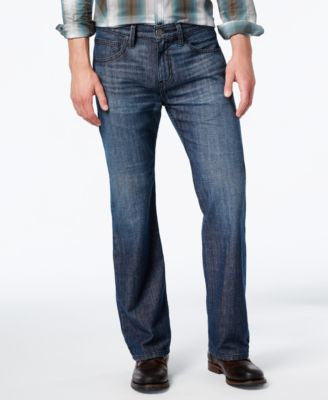 INC International Concepts Men's Relaxed-Fit Dark Wash Jeans, Only at Vogily
