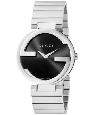 Gucci Watch, Unisex Swiss Interlocking Stainless Steel Bracelet 37mm YA133307