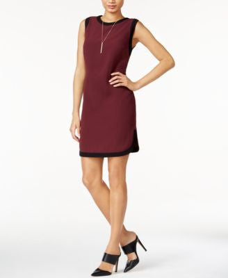 Bar III Colorblocked Shift Dress, Only at Vogily