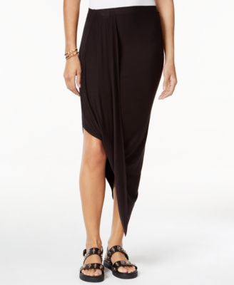Bar III Draped Asymmetrical Skirt, Only at Vogily