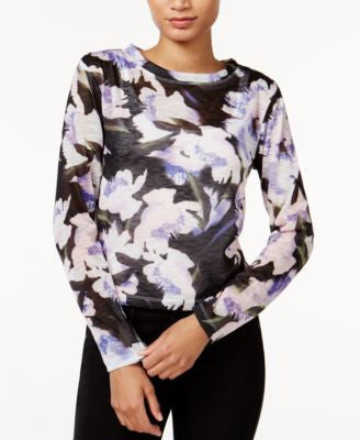 Bar III Floral-Print Knit Top, Only at Vogily