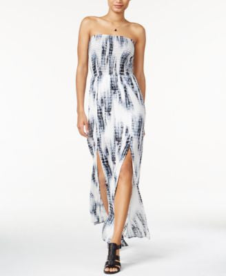 Bar III Printed Strapless Maxi Dress, Only at Vogily