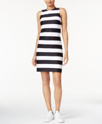 Bar III Striped Sheath Dress, Only at Vogily