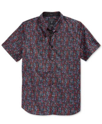 GUESS Men's City Light Graphic-Print Short-Sleeve Shirt