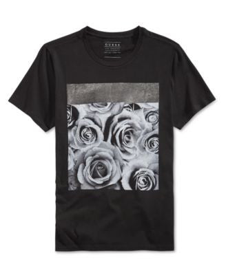 GUESS Men's Roses Graphic-Print T-Shirt