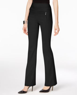 INC International Concepts Petite Zip-Pocket Wide-Leg Pants, Only at Vogily
