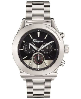 Ferragamo Men's Swiss Chronograph 1898 Stainless Steel Bracelet Watch 42mm FFM08 0016