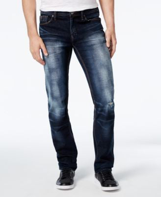 GUESS Men's Slim-Straight Sanded Jeans