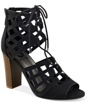 G by GUESS Iniko Caged Lace-Up Sandals