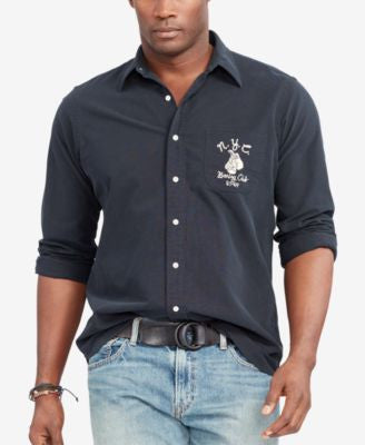 Polo Ralph Lauren Men's Big & Tall Embroidered Oxford Shirt