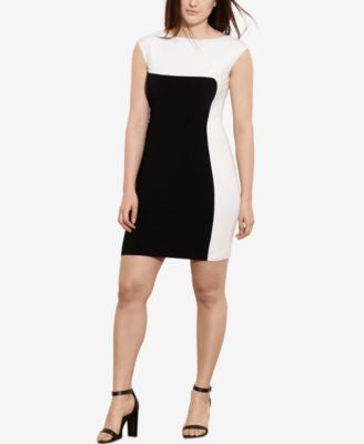 Lauren Ralph Lauren Plus Size Two-Toned Jersey Dress