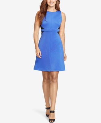 American Living Two-Toned Ponte Dress