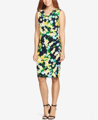 American Living Floral-Print Cowl-Neck Dress