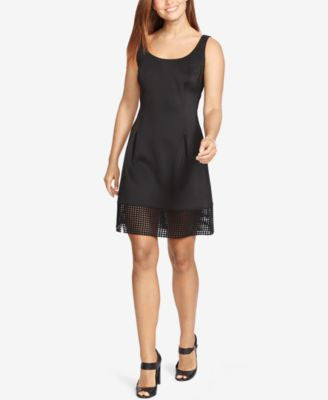 American Living Mesh-Hem Ponte Dress