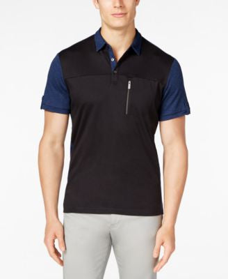 Calvin Klein Men's Colorblocked Pocket Polo