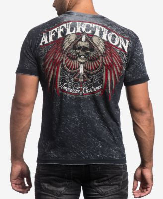 Affliction Men's Death March Reversible Graphic-Print T-Shirt