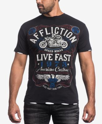 Affliction Men's Fire Water Graphic-Print T-Shirt