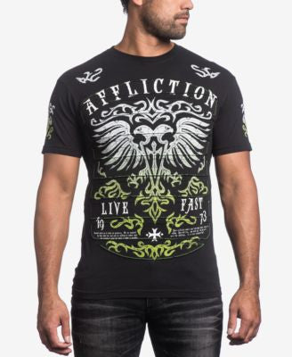 Affliction Men's Dark Ages Pieced Graphic-Print T-Shirt