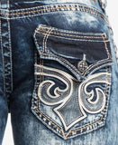 Affliction Men's Ace Fleur Slim-Straight Valdez-Wash Jeans