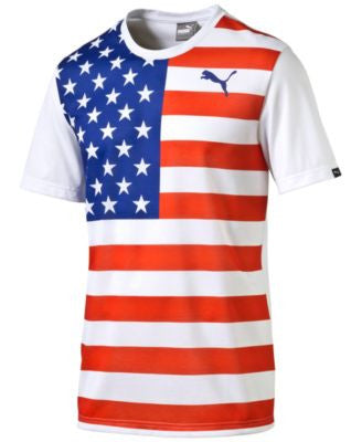 Puma Men's Stars and Stripes Graphic T-Shirt