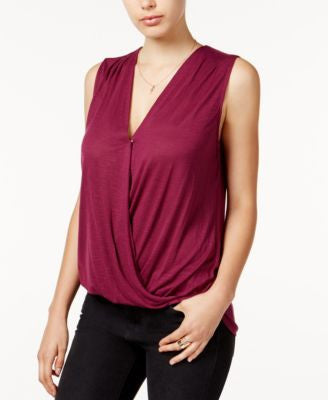 GUESS Sleeveless Surplice Top