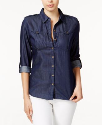 GUESS Char Denim Military Shirt