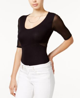 GUESS Daphne Mesh-Contrast Top