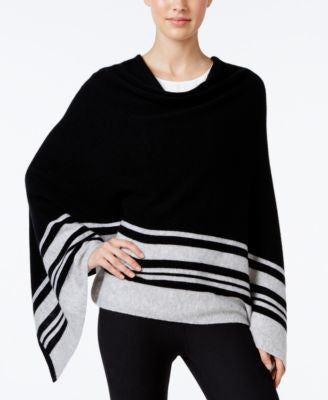 Charter Club Cashmere Striped Poncho, Only at Vogily