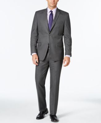Marc New York by Andrew Marc Men's Slim-Fit Gray Pinstripe Suit