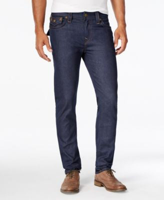 True Religion Men's Rocco Outsider Straight-Fit Raw Jeans