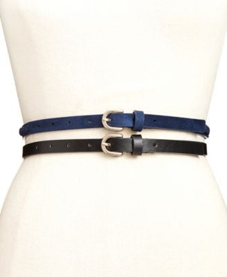 Style & Co. Braided Inlay Skinny 2-for-1 Belt, Only at Vogily