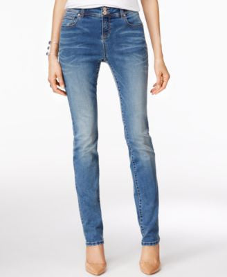 INC International Concepts Petite Sail Wash Straight-Leg Jeans, Only at Vogily