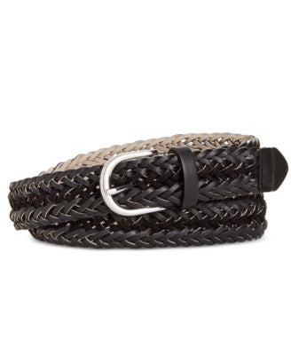 Style & Co. Faux Suede-Inset Woven Belt, Only at Vogily