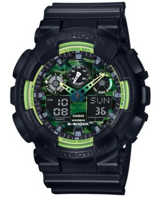 G-Shock Men's Analog-Digital Black Resin Strap Watch 55x51mm GA100LY-1A