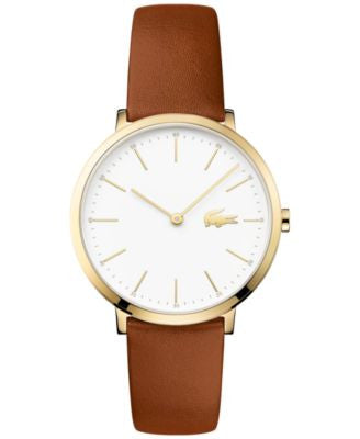 Lacoste Women's Moon Brown Leather Strap Watch 35mm 2000947