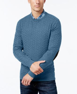 Tasso Elba Men's Chevron Sweater, Only at Vogily