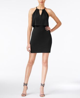 GUESS Cutout Halter Dress