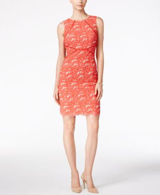 Ivanka Trump Floral Lace Sheath Dress
