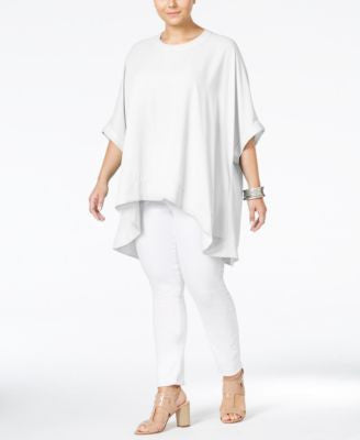 Melissa McCarthy Seven7 Trendy Plus Size Button-Back Relaxed Blouse