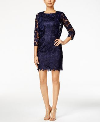 Tahari ASL Lace Sheath Dress and Bolero Jacket